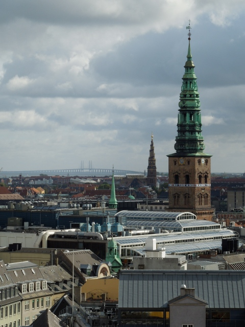 You can see all the way to Sweden (the bridge in the background connects Copenhagen to Malmo)