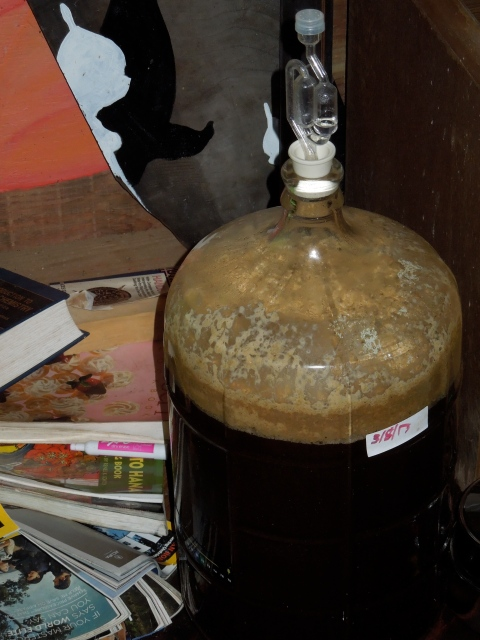 Yeast hard at work fermenting