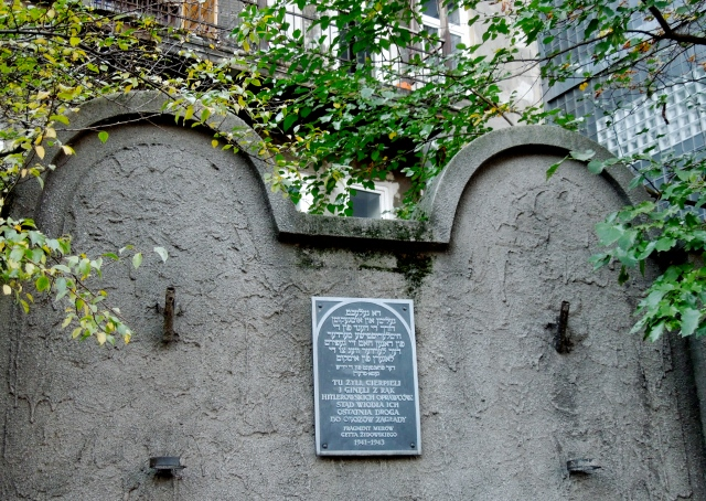 One of the only remaining walls of Krakow's ghetto -- the curved tops are designed to look like tombstones