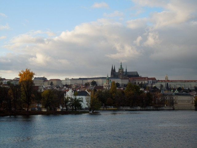 Prague Castle from across the Vltava River