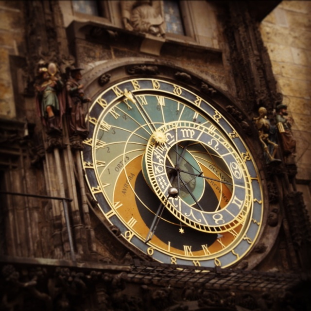 Detail of the astronomical clock in Old Town Square