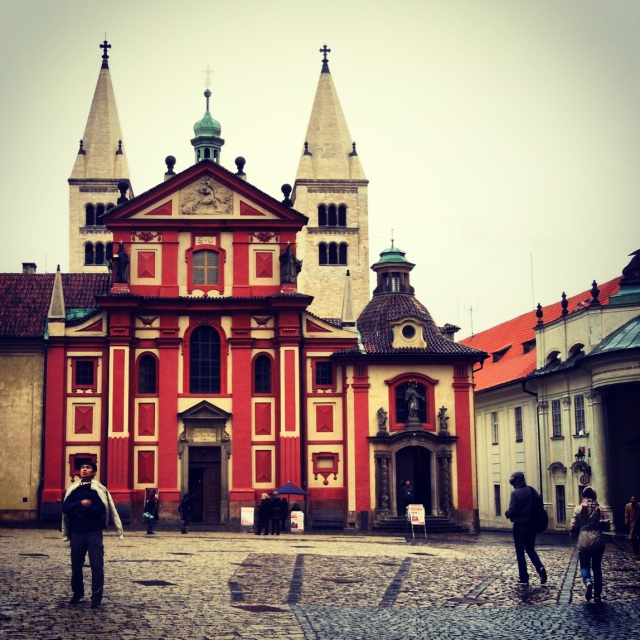 Particularly colorful portion of Prague Castle