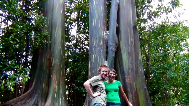 Some friendly Canadians snapped this photo of E and I right before we started giving the trees big old hugs.