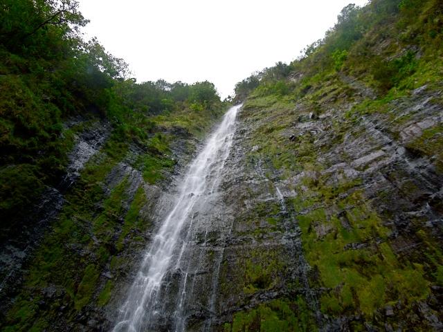 Waimoku Falls is a waterfall you can hike to from Oheo Gulch