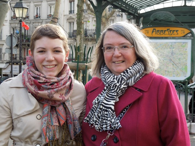 A more recent photo of my mother and I, in Paris, last November