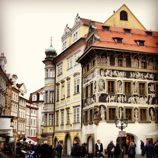 Architecture and crowds in Old Town Square
