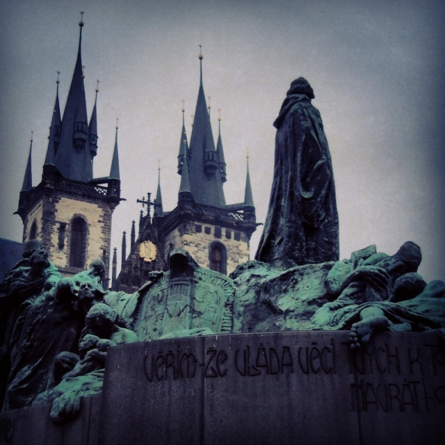 The first photo of Prague that I instagrammed in order to capture the city looking a little darker, moodier, more atmospheric.