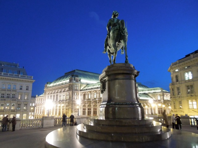 Outside the Albertina, Vienna looks stunning