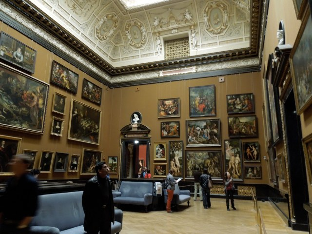 Walls of paintings at the Kunsthistorisches Museum