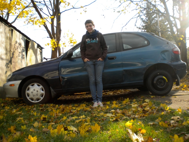 Me and my piece of shit car, which I no longer have, but which never contained a GPS