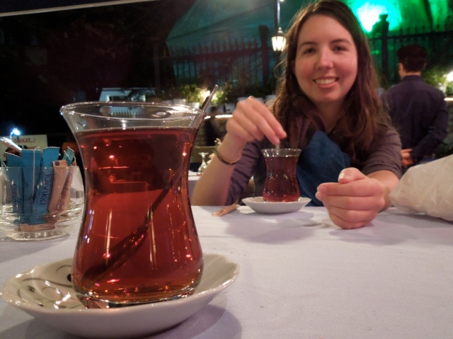 The tea also has a pleasing color. Katie likes it.
