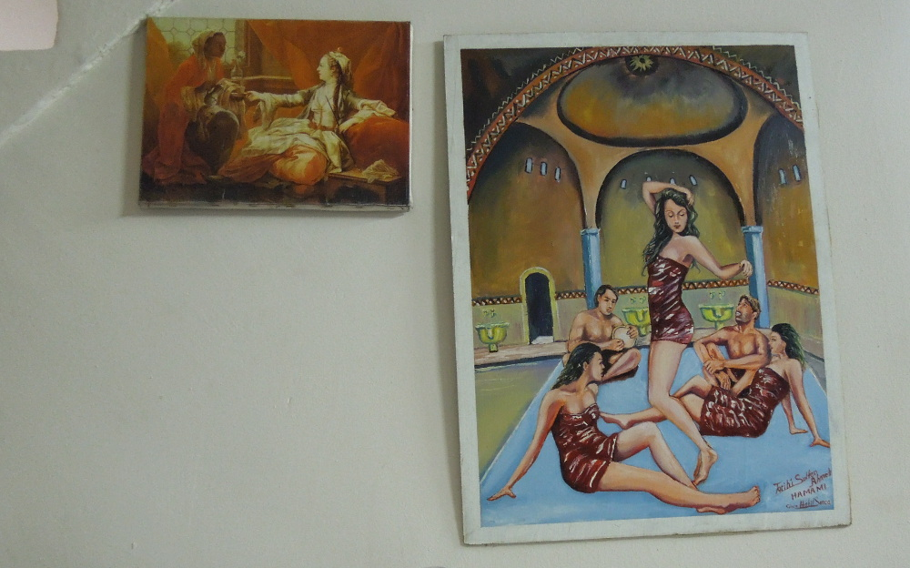 Evocative (if inaccurate) paintings at the hamam