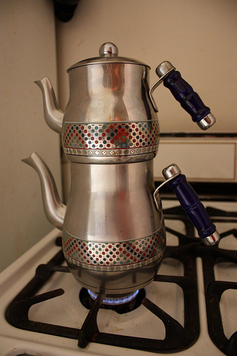Stack your teapots like so. Photo by iriskh