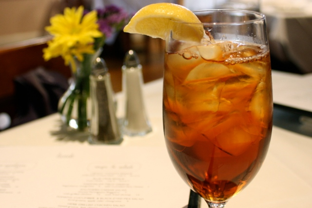 Sweet tea in Charleston, South Carolina