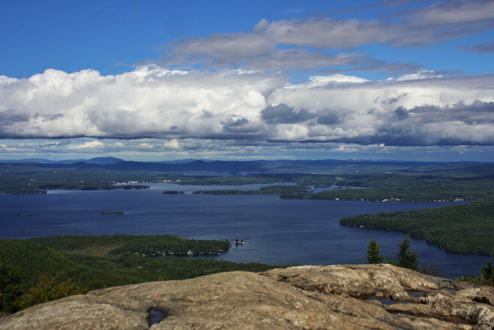 The view from the top of Mount Major, New Hampshire, September 2013