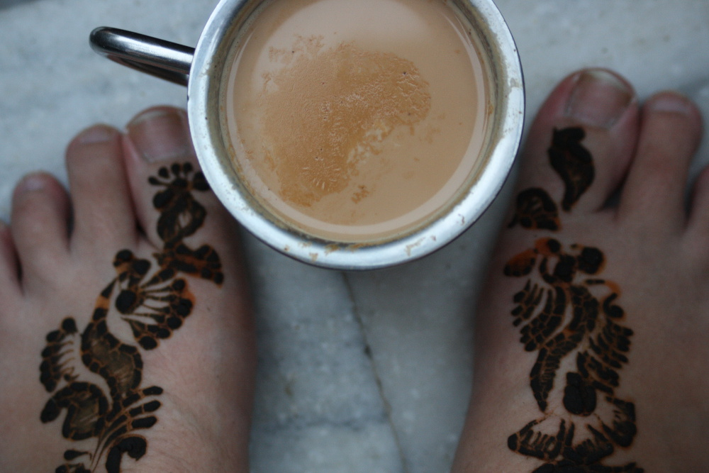 Henna and chai in Rishikesh, India