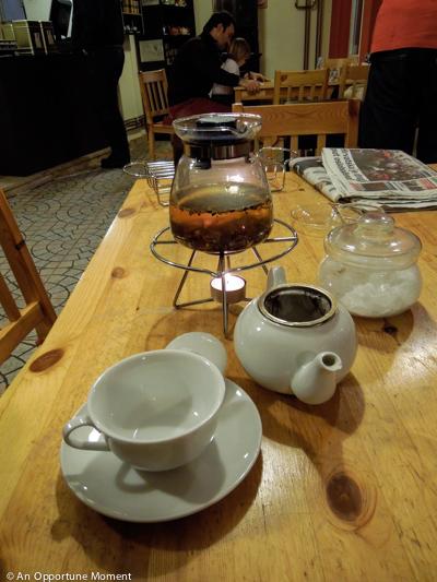 Katie's tea steeping