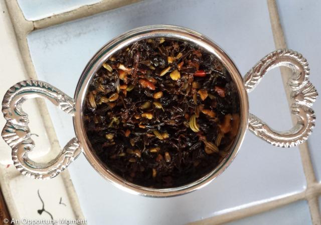 Spent tea leaves