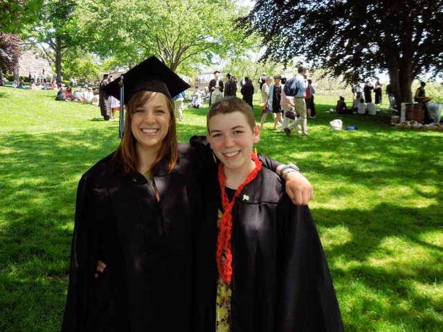 Kristen and me at our graduation from Tufts University (yup, we went to high school and college together)