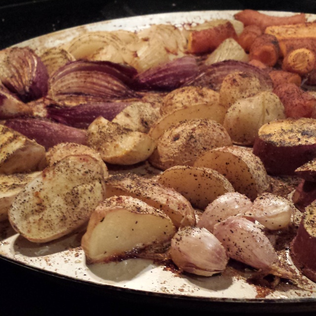 These roasted root vegetables are the only thing I instagrammed in October.